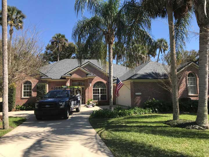 residential roofing service project in atlantic beach, florida