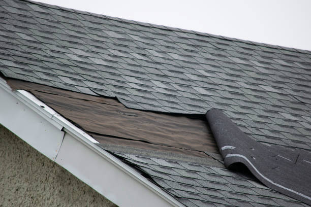picture of roof with issues and falling shingles