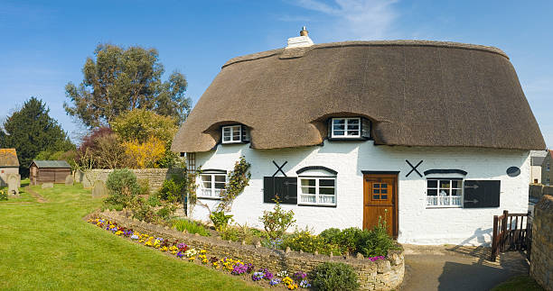 cottage house with South African style thatched roof