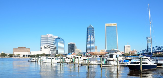 modern downtown Jacksonville Florida skyline