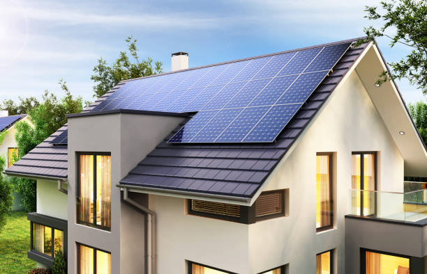 Modern Residence With PERC Solar Panels