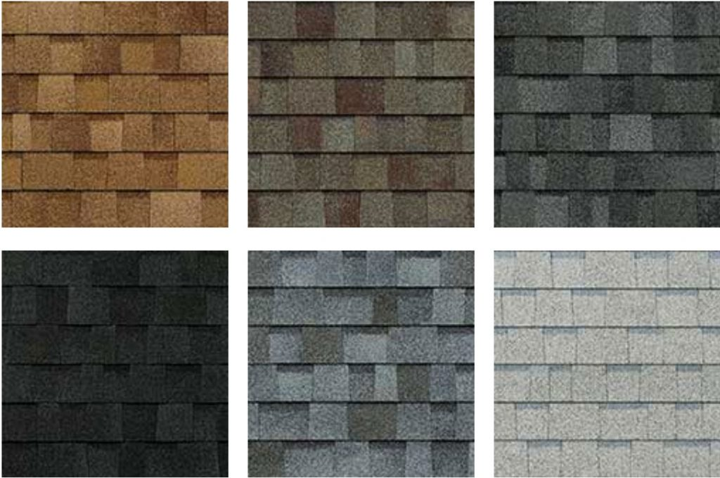 shingle roof color and style options