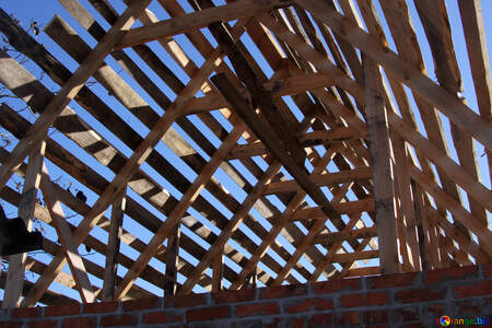 house rafter system roof construction