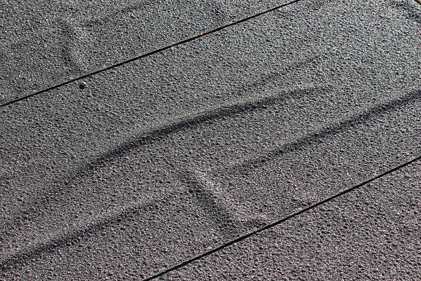 Laid Out Roofing Felt On Top Of A Small Shed Roof