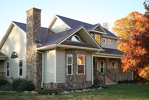 Beautiful Stone Home Front Yard